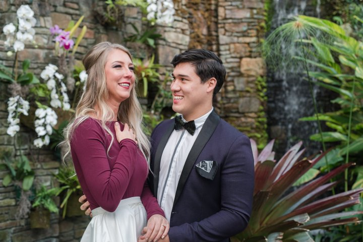 Risa & Austin: Charlotte Wedding Styled Shoot with Real Engagement at Daniel Stowe Botanical Gardens