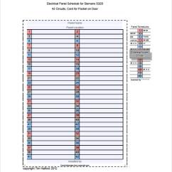 Circuit Breaker Panel Wiring Diagram Negative Feedback Loop Printable Electrical Schedule Label Template Freeware Charlotte Clergy