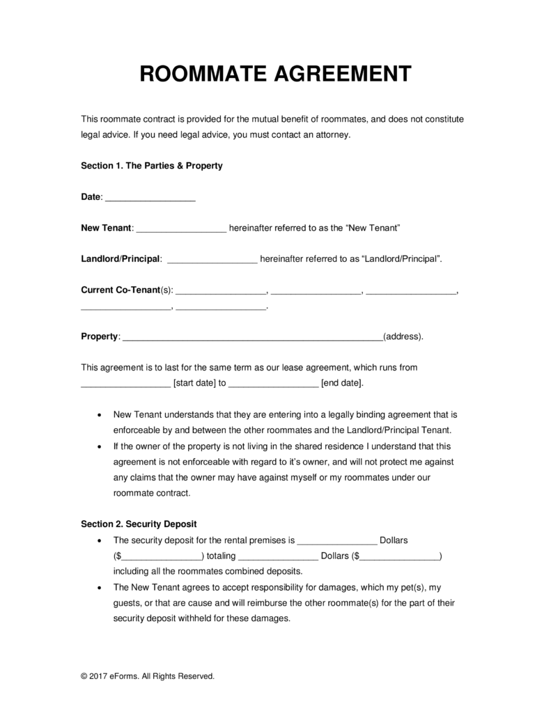 Sample Of Lease Agreement For Renting A Room  charlotte