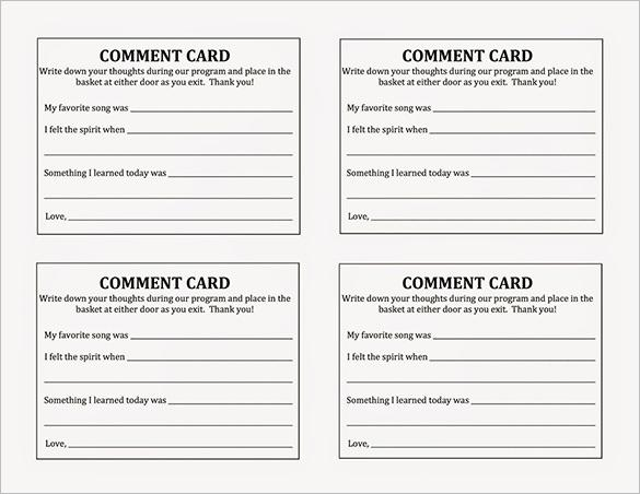 suggestion cards templates