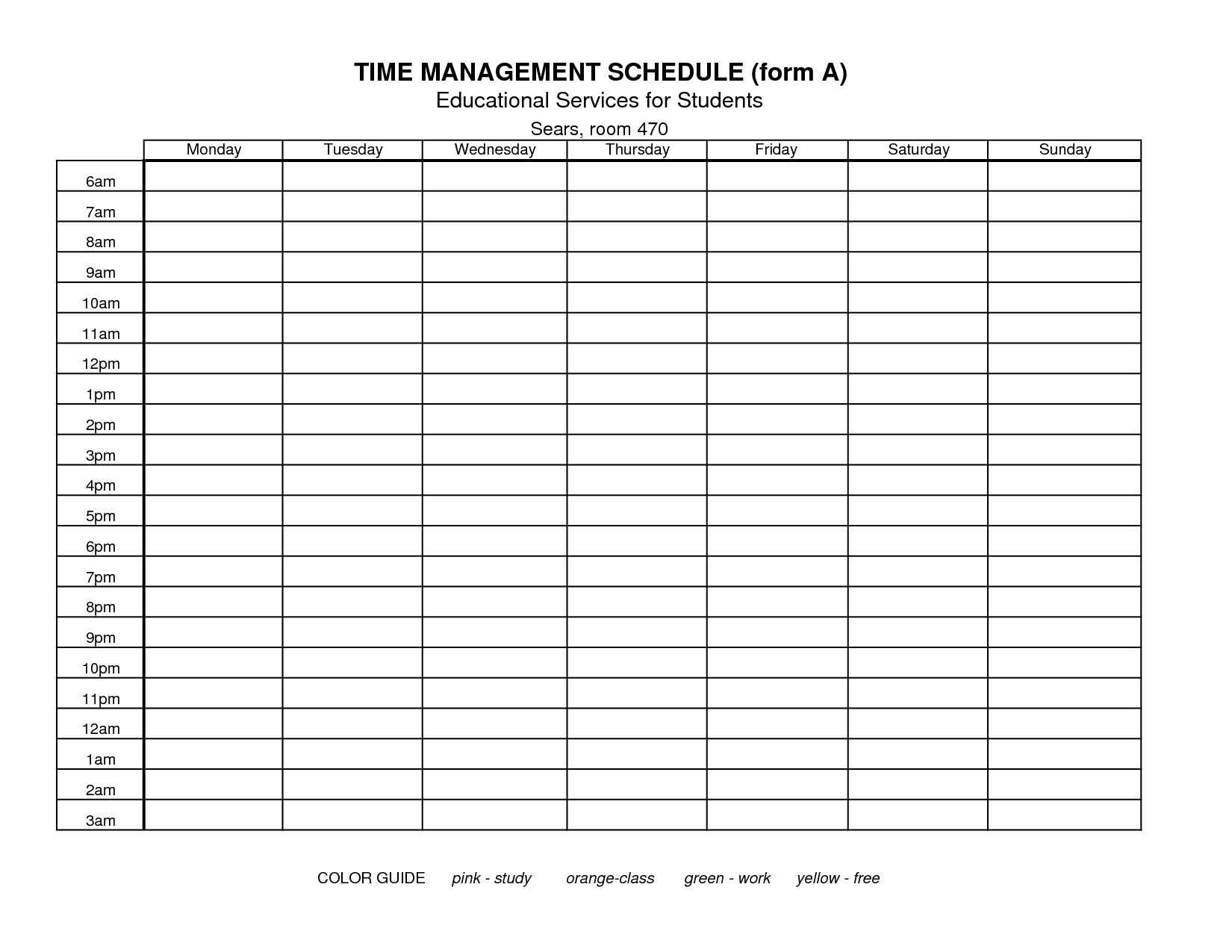 Time Management Templates