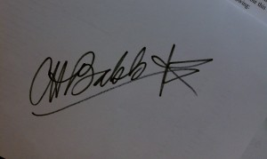CHB Signature with star