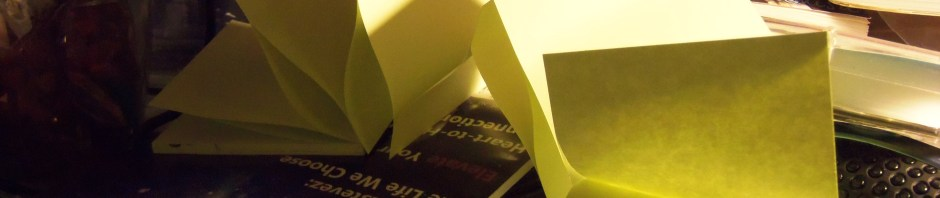 arch of sticky notes