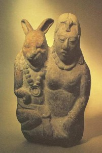 Rabbit of the Moon and Ix Chel, Lady of the Rainbow in Mayan Mythology