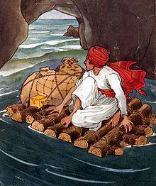 Sinbad during sixth voyage