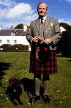 Former 3rd Duke of Fife wearing a traditional Scottish kilt. (1984) By Allan Warren