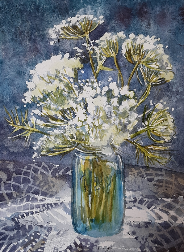 Queen Anne's Lace in Mason Jar
