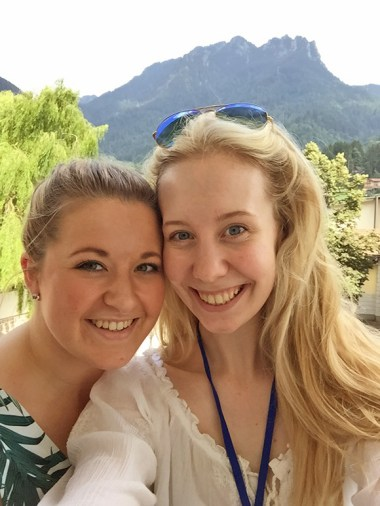 Jessica Hurst and Me On Our First Day In Italy