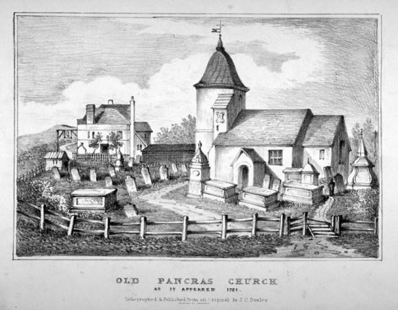 St Pancras Old Church, London, 1721.