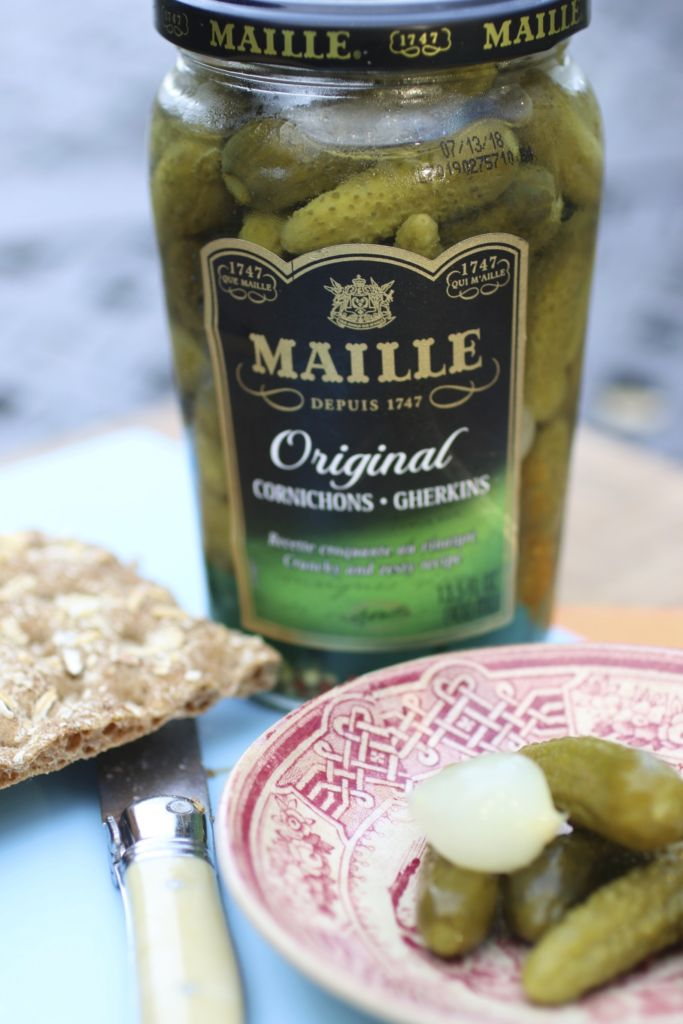 jar of Maille Cornichons