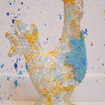 hen cock sculpture