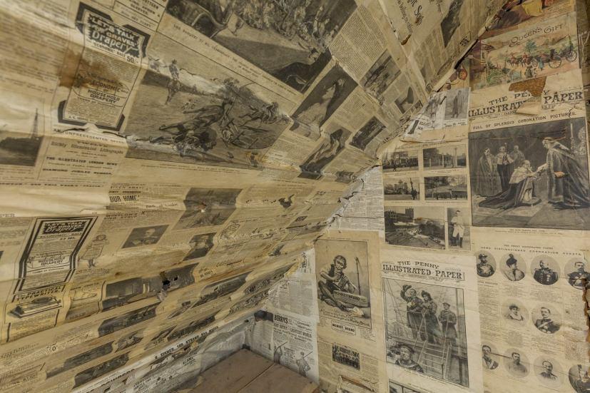 Newspapered walls