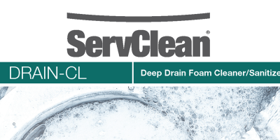 ServClean Drain CL Deep Drain Foam Cleaner/Sanitizer