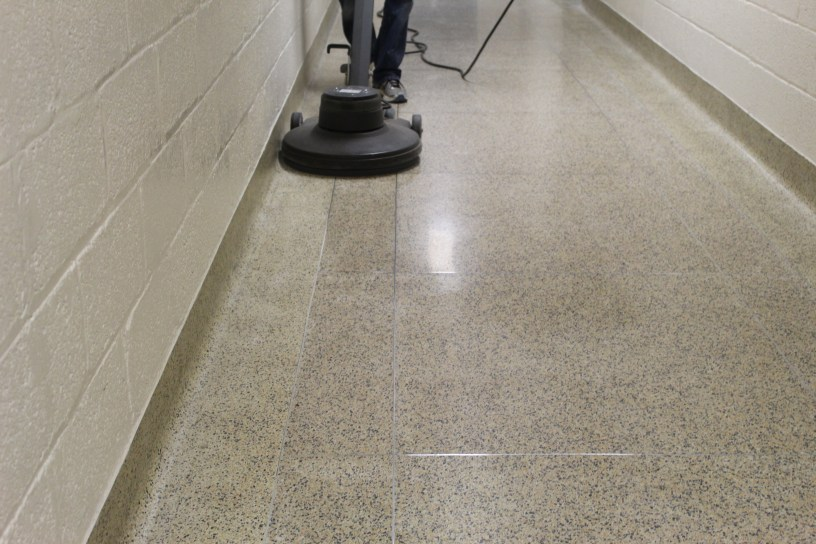 Extending the life of your floors — spray buffing at school