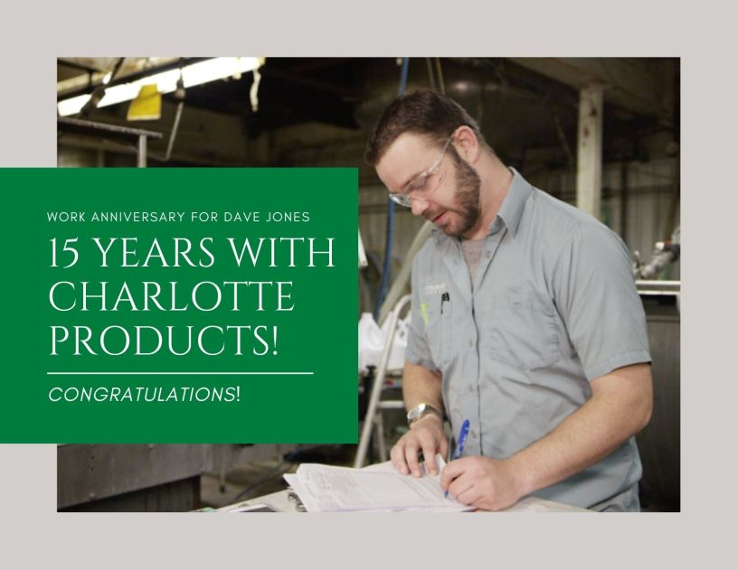 Congratulations to Dave Jones for 15 Years With Charlotte!