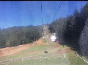 Gondola ride up the mountain