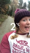 I pretty much kept this bobble hat on my whole trip, even when I went hiking