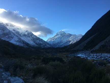 First view of Mt. Cook which is usually obstructed my clouds
