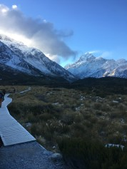 Hiking to Mt. Cook
