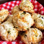 Cheesy Poblano Drop Biscuits
