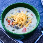 Green Chile Sausage Chowder