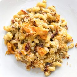 Butternut Squash & Bacon Mac N Cheese