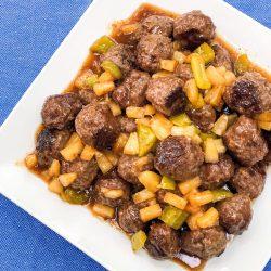 Homemade Hawaiian Meatballs