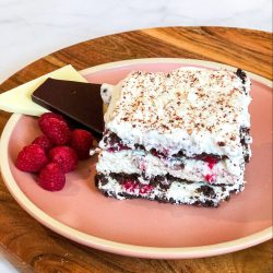 Double Chocolate Raspberry Icebox Cake
