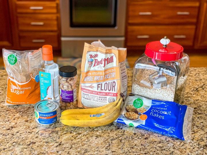 Tropical Banana Muffins ingredients