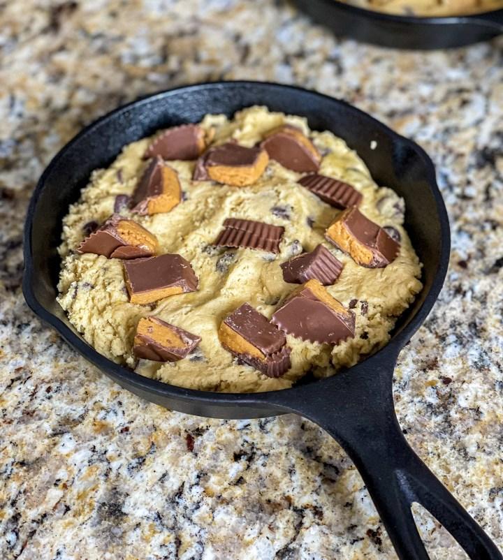 Chocolate Chip Skillet Cookies PB version