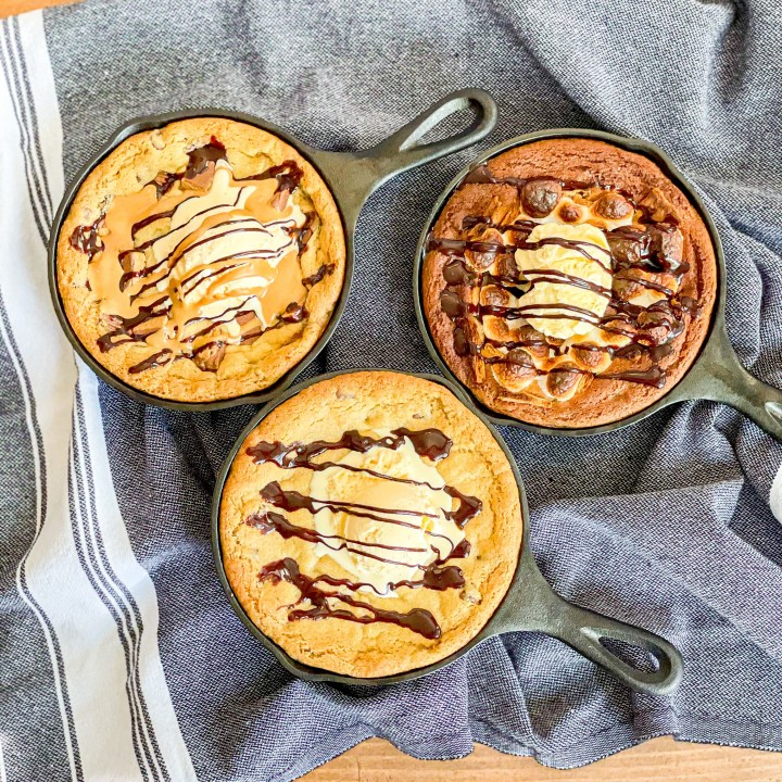 Chocolate Chip Skillet Cookie variations