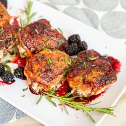 Rosemary Chicken Thighs with Blackberry Balsamic Glaze