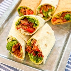 BLT Wraps with Avocado Mayo