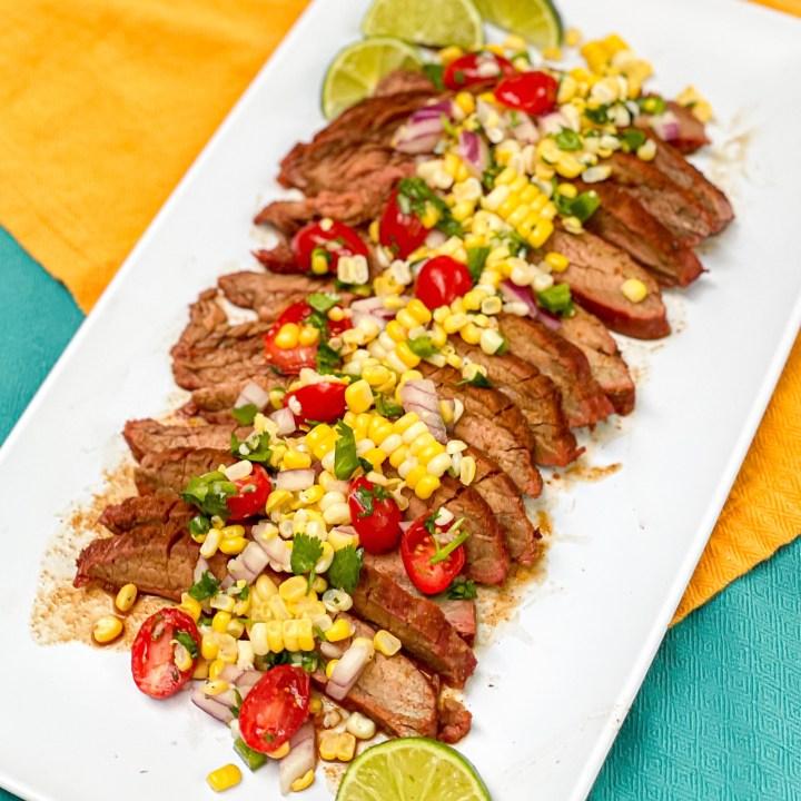 Chipotle Flank Steak with Corn Salsa