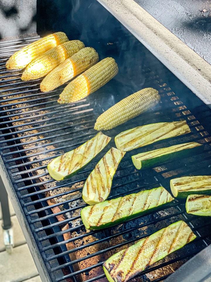 Grilled Zucchini and Corn