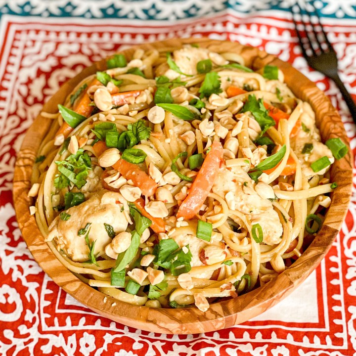 Easy Thai Chicken Pasta