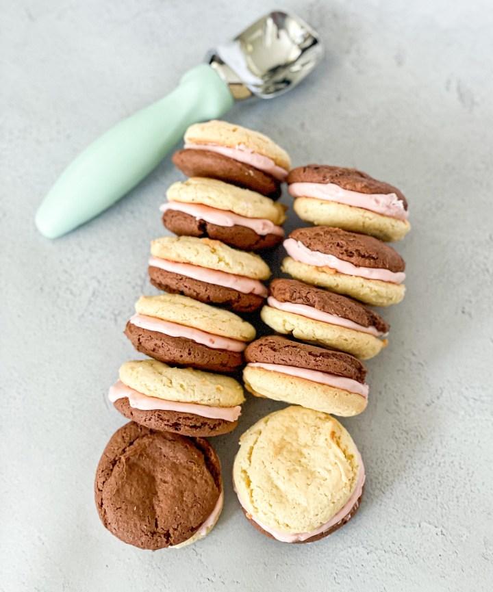 Neapolitan Sandwich Cookies
