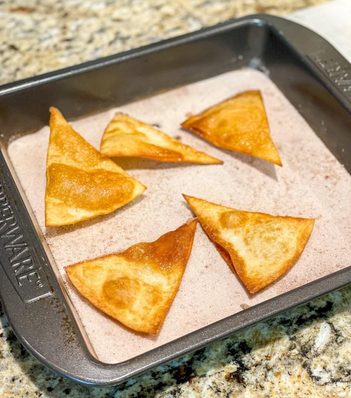 Churro Chips process