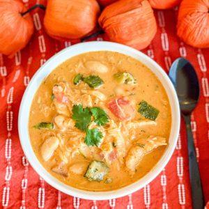 Smoky Pumpkin Chicken Chili