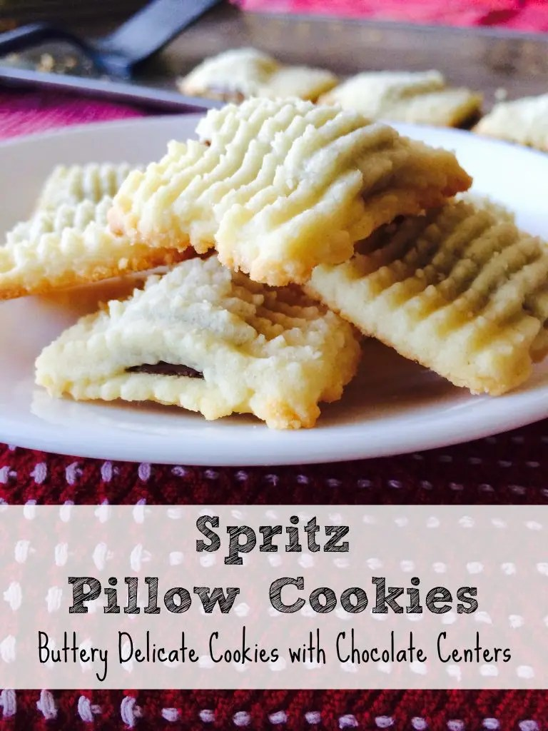Spritz Pillow Cookies  This Lovely Place
