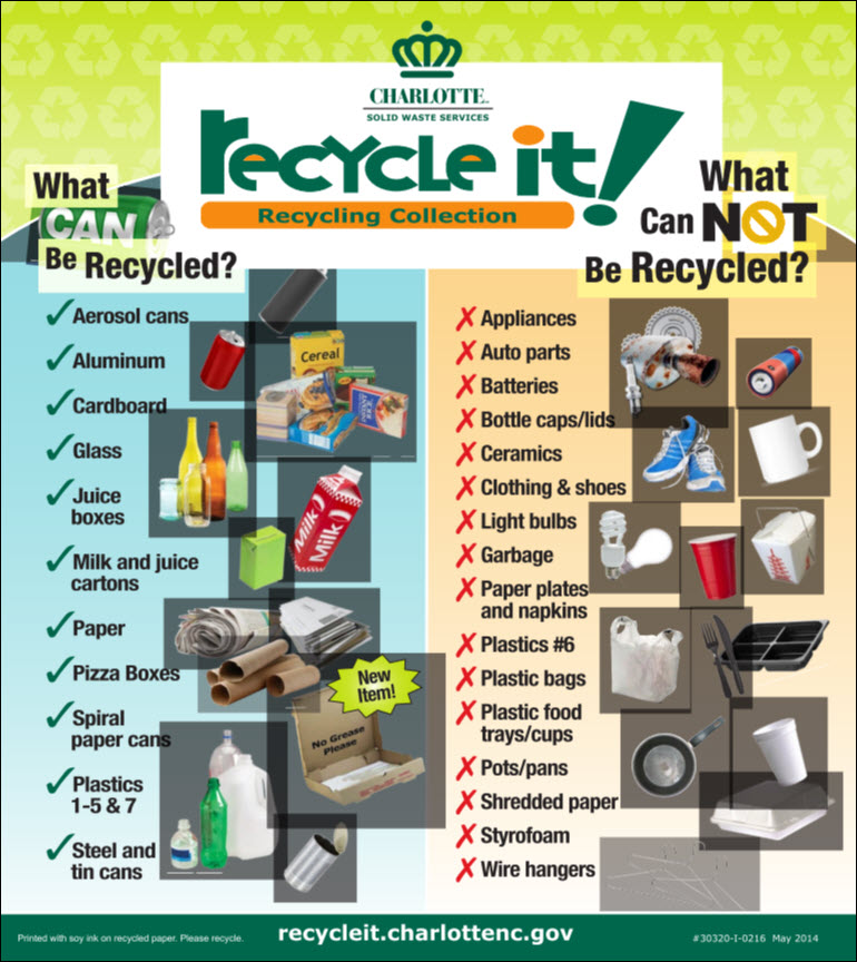 Recycle it Get your new recycling list and pick up