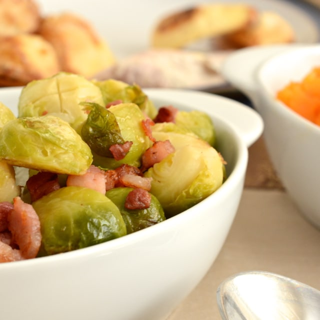 Sprouts with Pancetta and Orange
