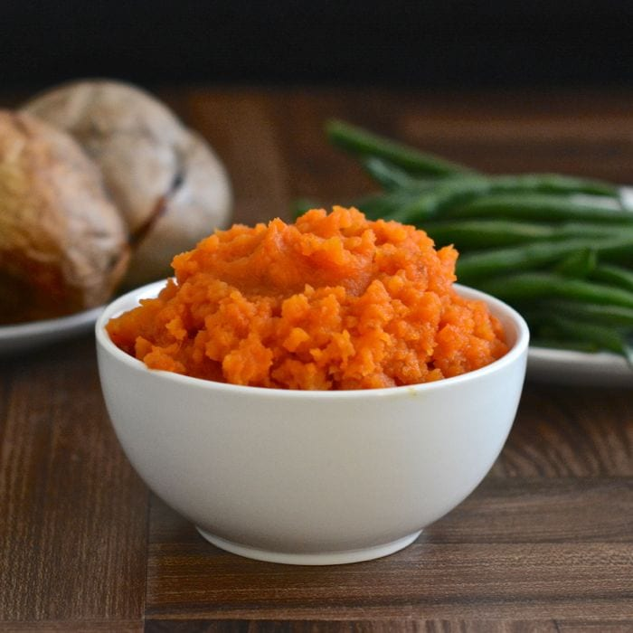 Roasting the vegetables really brings out the flavour in this carrot and swede mash recipe. The perfect accompaniment to a roast dinner and two of your five-a-day.