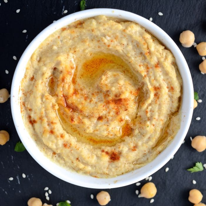 Make perfect hummus at home with this delicious recipe, no tahini required and ready in 15 minutes.