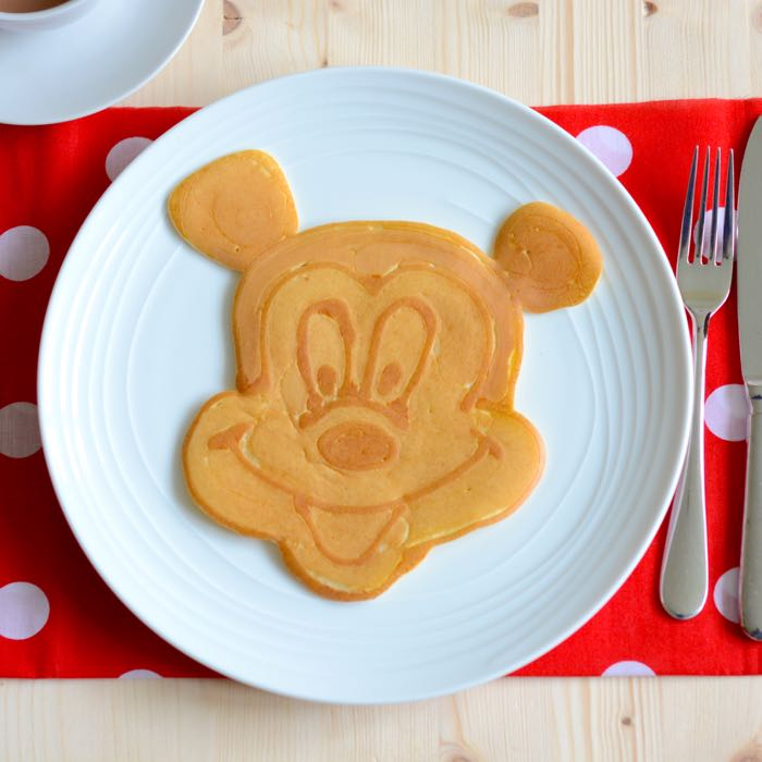 Mickey Mouse Pancake Art