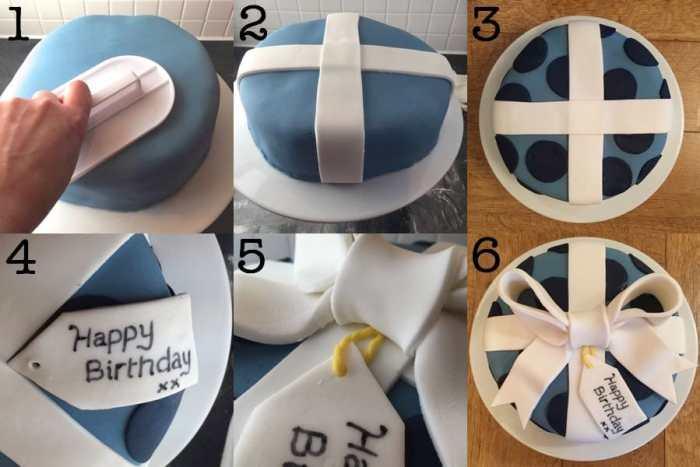 Birthday Present Cake Decorating Tutorial Charlottes Lively Kitchen