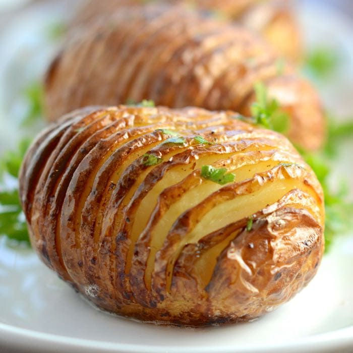 Hasselback Potatoes | Charlotte's Lively Kitchen