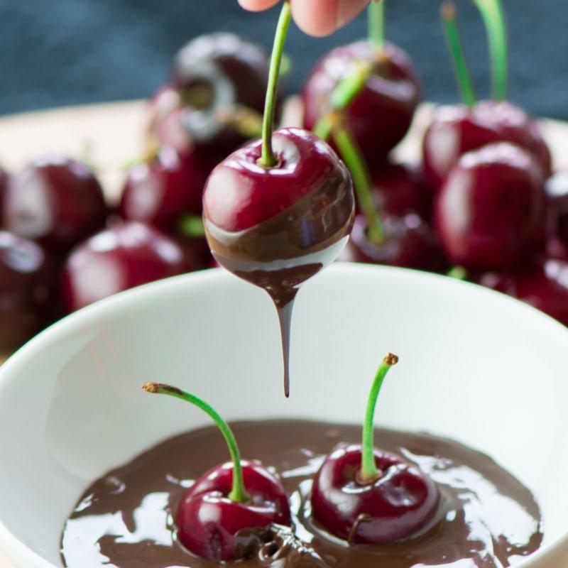 Cherries and chocolate