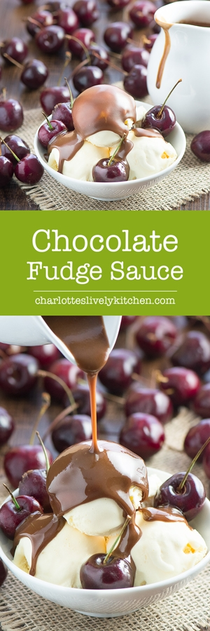With just 3 ingredients and 2 minutes you can make a delicious chocolate fudge sauce, perfect for pouring over your favourite ice cream of for using as a chocolate dipping sauce.