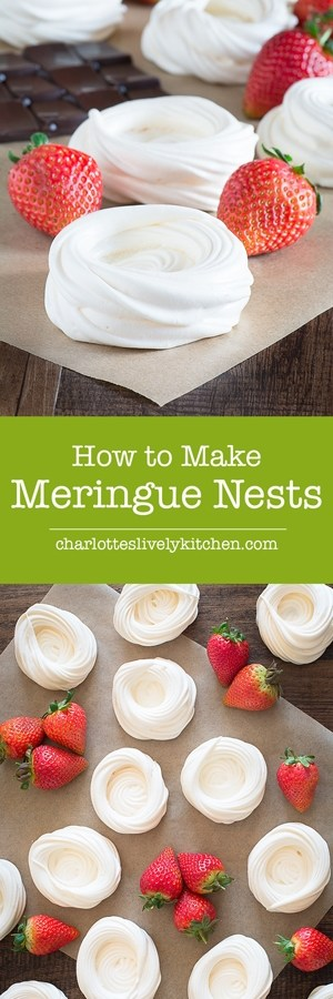 A step-by-step guide to making homemade meringue nests, perfect for making beautiful mini pavlovas.